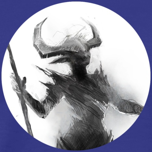 demon sketch detail by telthona d4h573p - Men's Premium T-Shirt