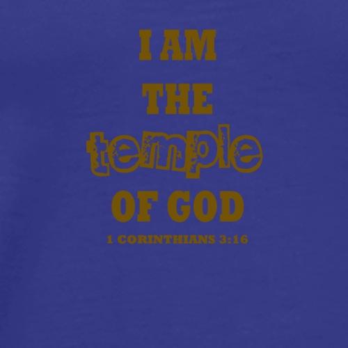 I am the Temple of God - Men's Premium T-Shirt