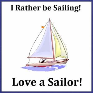 Sailing Love a Sailor Sailboat - Men's Premium T-Shirt