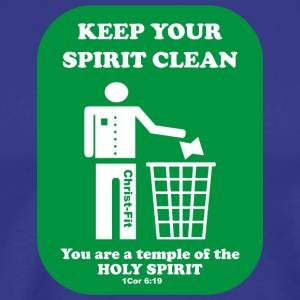 keep your spirit clean solid green - Men's Premium T-Shirt