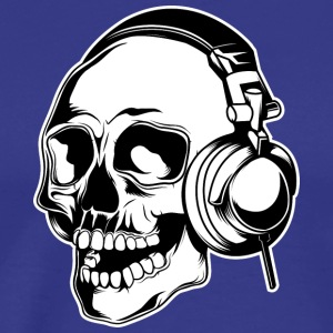 skull_in_headphones - Men's Premium T-Shirt