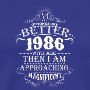 Vintage Born In 1986 30 Years Old Birthday T-Shirt - Men's Premium T-Shirt