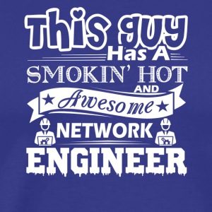 This Guy Has Awesome Network Engineer Shirt - Men's Premium T-Shirt
