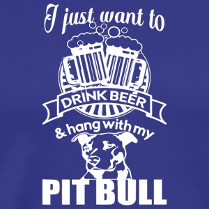 Drink Beer & Hang With My Dog T Shirt - Men's Premium T-Shirt