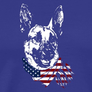 German Shepherd USA Shirt - Men's Premium T-Shirt