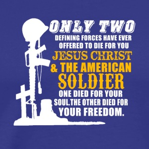 Army and Christian - Jesus Christ and soldiers 2 - Men's Premium T-Shirt