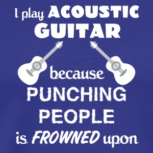 Acoustic Guitar Love Gift- cool shirt,geek hoodie, - Men's Premium T-Shirt