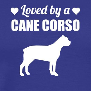 Loved By A Cane Corso - Men's Premium T-Shirt