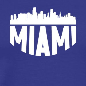 Miami FL Cityscape Skyline - Men's Premium T-Shirt