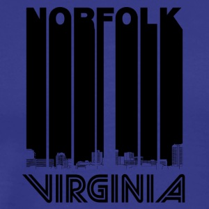 Retro Norfolk Virginia Skyline - Men's Premium T-Shirt