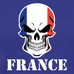 French Flag Skull France - Men's Premium T-Shirt