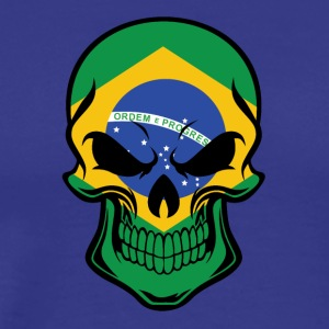 Brazilian Flag Skull - Men's Premium T-Shirt