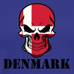 Danish Flag Skull Denmark - Men's Premium T-Shirt