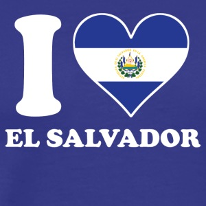 I Love El Salvador El Salvadorian Flag Heart - Men's Premium T-Shirt