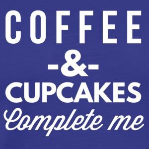 Coffee and Cupcakes complete me - Men's Premium T-Shirt