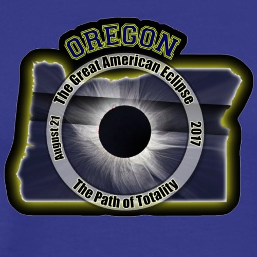 Oregon Great American Eclipse Path of Totality - Men's Premium T-Shirt