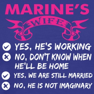 Marines Wife Yes Hes Working - Men's Premium T-Shirt