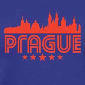 Retro Prague Skyline - Men's Premium T-Shirt