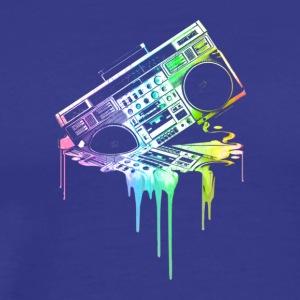 Melting Boombox in Rainbow Colors - Men's Premium T-Shirt