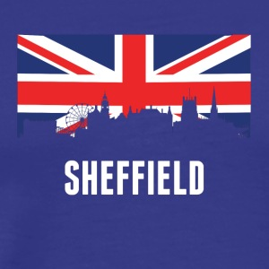 British Flag Sheffield Skyline - Men's Premium T-Shirt