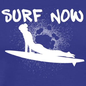 surfer_girl_3_white - Men's Premium T-Shirt