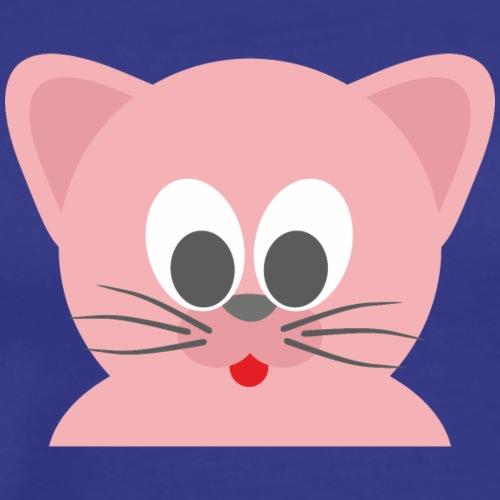 Cat pink with tongue - Men's Premium T-Shirt