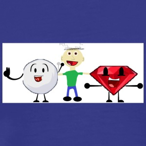 Snowball, me, and Ruby (I am a fan of BFDI!) - Men's Premium T-Shirt