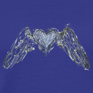 Winged heart - by Fanitsa Petrou - Men's Premium T-Shirt