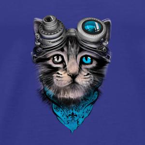 Steampunk cat - Men's Premium T-Shirt
