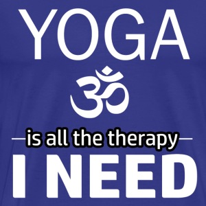 Yoga is my therapy - Men's Premium T-Shirt