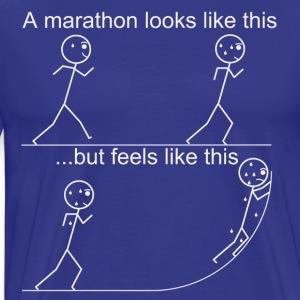 Running a marathon does not feel like it looks - Men's Premium T-Shirt
