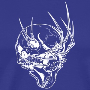 scary skull with spider - Men's Premium T-Shirt