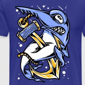 shark and anchor - Men's Premium T-Shirt