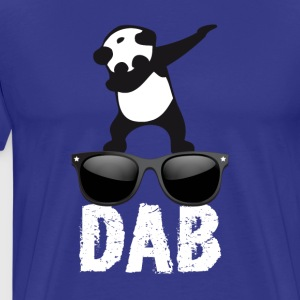 dab panda glaces dabbing football touchdown dance - Men's Premium T-Shirt
