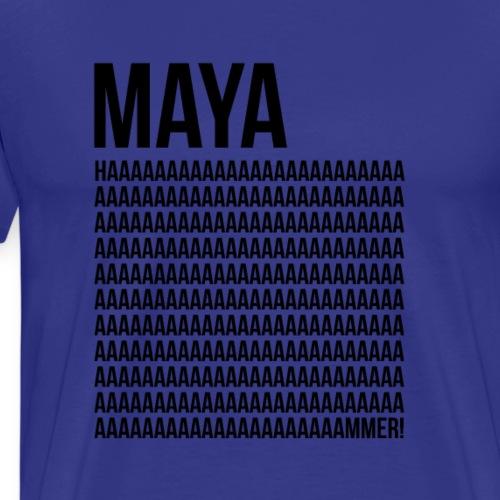MAYA HAMMMMMMMER! (Black) - Men's Premium T-Shirt