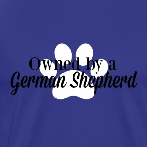 Owned by a German Shepherd - Men's Premium T-Shirt
