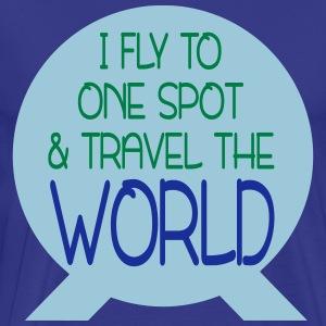 One Spot & Travel the World - Men's Premium T-Shirt
