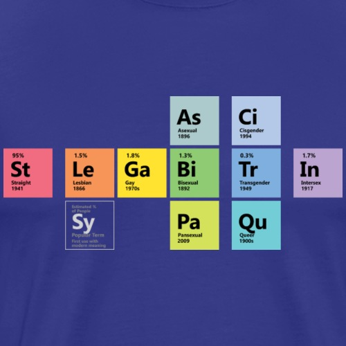 LGBTQI Chemistry - Men's Premium T-Shirt