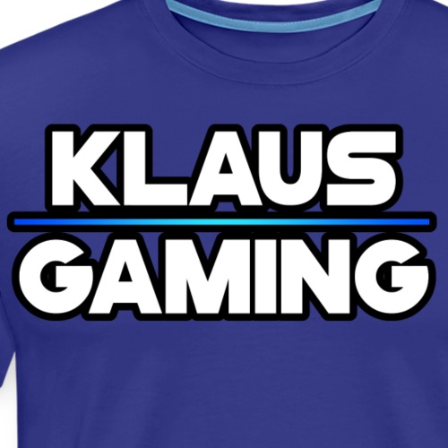 Klaus Gaming Logo Outlined - Men's Premium T-Shirt