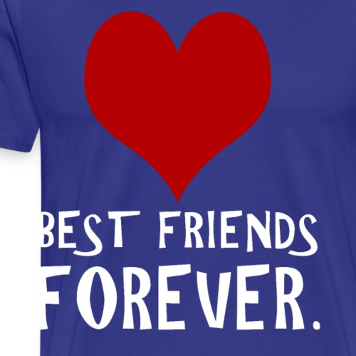 Best Friends Forever Red Heart Cool Trending Tee - Men's Premium T-Shirt