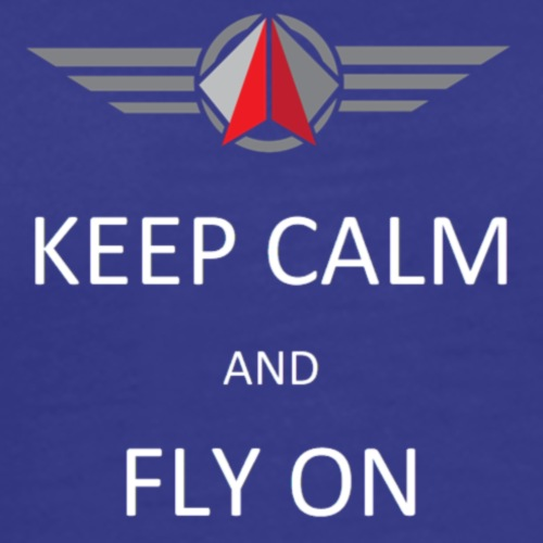Keep Calm Fly On - Men's Premium T-Shirt