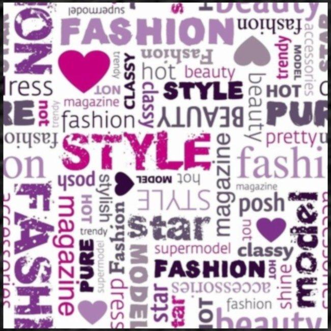 fashion word collage