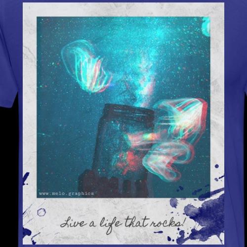 Polaroid Jellyfish Mason Jar - Men's Premium T-Shirt