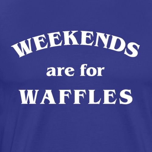 Waffles in White - Men's Premium T-Shirt