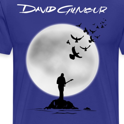 David Gilmour On Island - Men's Premium T-Shirt