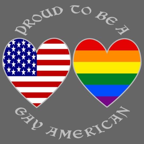 Proud Gay American Grey Letters - Men's Premium T-Shirt