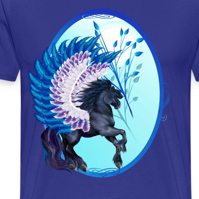 Blue Winged Pegasus Oval