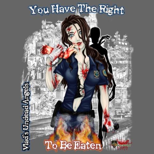 Zombie Cop Terri White Appocalyptic Ruin w Zombie - Men's Premium T-Shirt