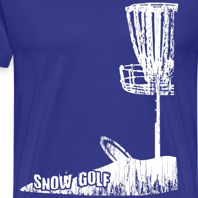 Snow Disc Golf Shirt White Print