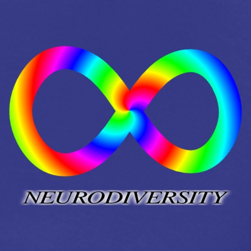 Neurodiversity with Rainbow swirl - Men's Premium T-Shirt